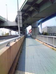 神戸大橋の歩行車自転車専用道路