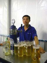 ビールうまいっしょー♪