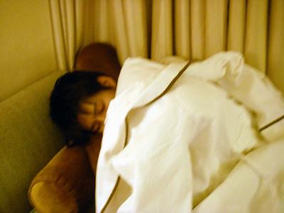 寝やがった(-_-)