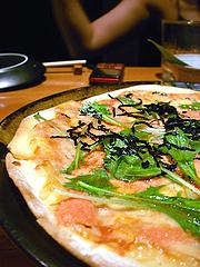 明太子と水菜のピザ