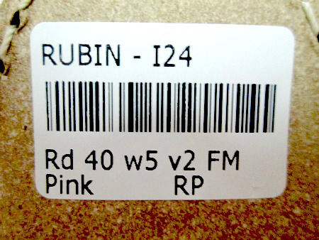 Rubin size sticker