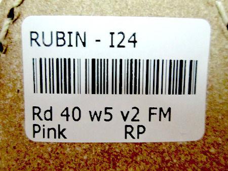 Rubin size sticker