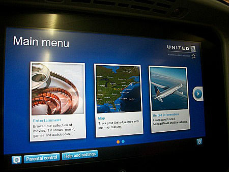 in-flight screen