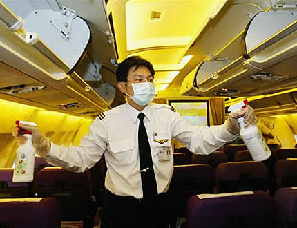 germ-filled airplanes