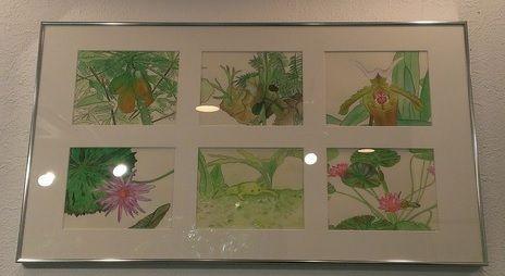 green paintings