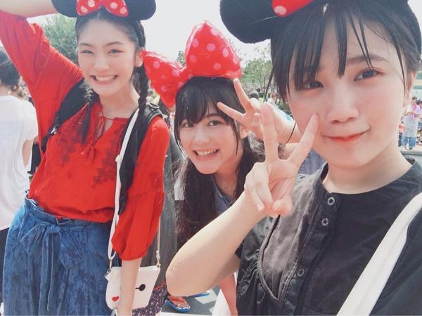 アンジュルム船木結がおはガール岡田愛、宮田くるみとディズニーランドへ遊びに行く