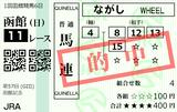 210718函館11R函館記念 馬連的中