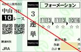 161002中山10R勝浦特別 3連単