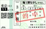 190427東京11R青葉賞 3連複的中(◎3番ランフォザローゼス)