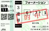 210327阪神11R毎日杯 3連単的中(本線ズバッ!)