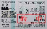 191103東京11Rアルゼンチン共和国杯 3連複的中