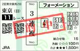 190421東京11RフローラS 3連複的中(◎4番ウィクトーリア)