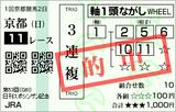 190106京都11Rシンザン記念 3連複(◎1番マイネルフラップ)的中