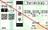 160918中山7Rダ1200 3連単