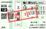 20200906新潟12R雷光特別 3連複的中