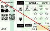 160918阪神7R芝2200 馬単