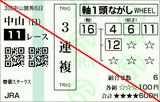 180408中山11R春雷S 3連複