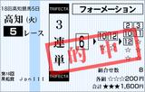 160315高知5R黒船賞 3連単的中(トリガミ)