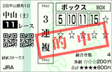160227中山11R総武S 3連複的中