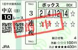 160131中京10Rごぎょう賞 3連複的中