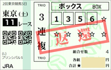 190504東京11RプリンシパルS 3連複【返還】