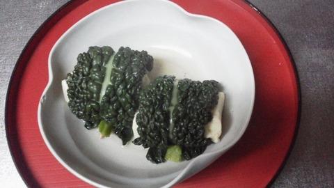 №4黒キャベツ料理「高野豆腐のコンソメ煮込み」