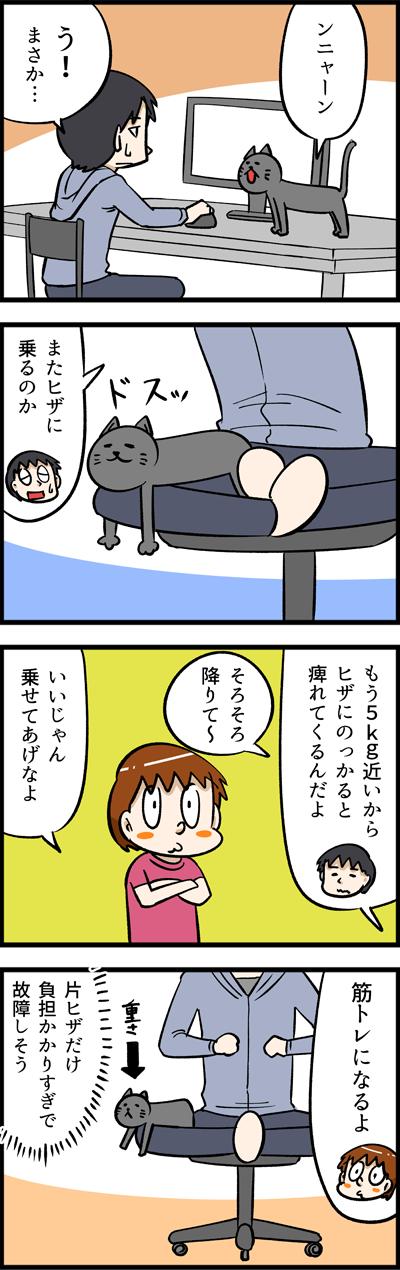 ヒザのりネコの限界・・・