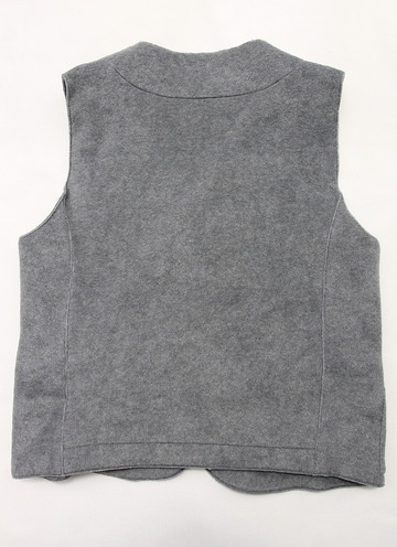 bettaku roof pocket fleece vest GREY (5)