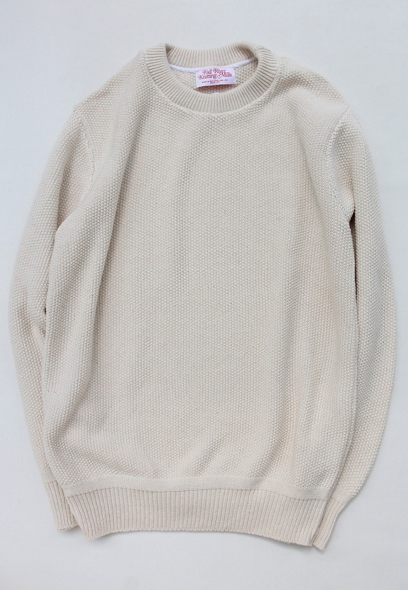 Fall River Knitting Mills Crew Neck Sweater NATURAL