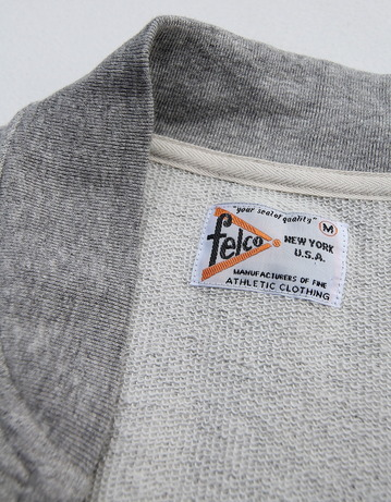 Felco French Terry Award Zipfront Jacket HEATHER GREY (4)