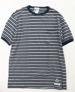 Felco Multi Border Ringer Tee NAVY