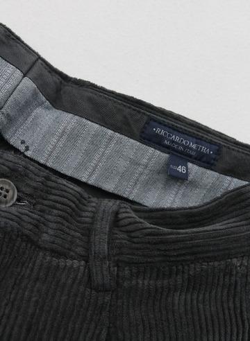 Riccard Metha Corduroy 1 Tuck Wide Trousers GREY (2)