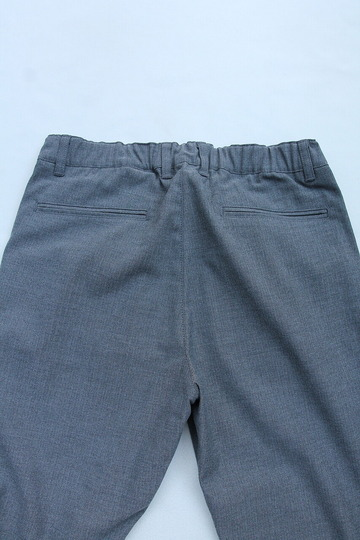 Harriss CARREMAN TR Stretch Heringbone 1P Tapered Pants GREY (4)