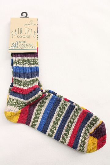 GRANGE CRAFT Fair Isle Socks (2)