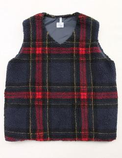 NOUN Vest Check RED X NAVY