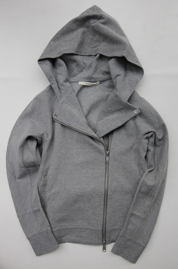 Rappeler Jersey Hooded Riders HEATHER GREY