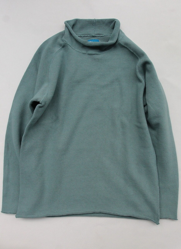 Goodon Bottle Neck Knit Cut G GREEN