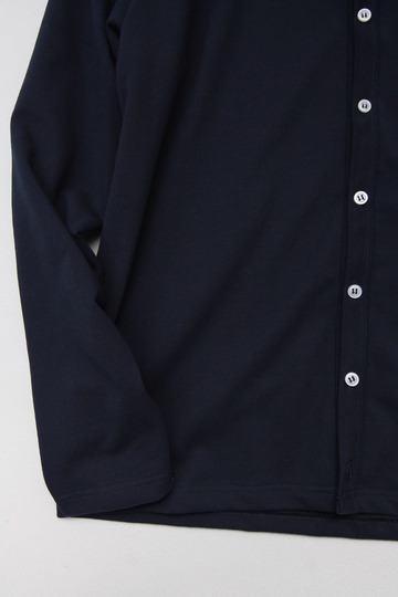 Quotidien Cotton Pique Crew Neck Cardigan NAVY (4)