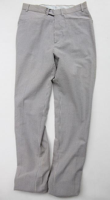 Mabitex Seersucker Tepered Pants BEIGE X GREY (7)