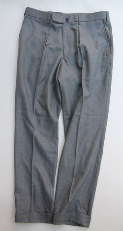 DC WHITE Fine Wool Onetuck Tapered Pants  GRAY (5)