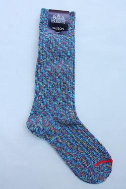 HALISON Marble Slab Rib Socks BLUE (3)