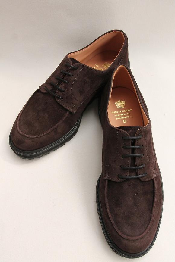 Crown Northampton Apron Shoes DK BROWN (9)