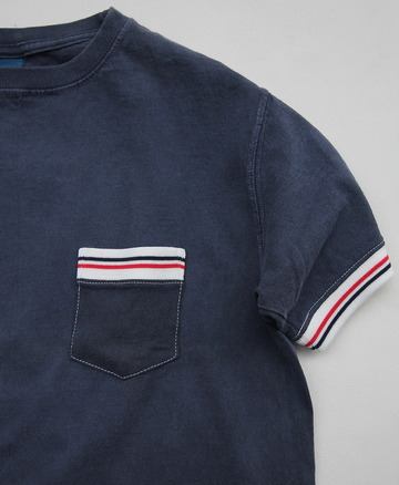 Goodon SS Remake IVY Pocket Tee P NAVY (3)