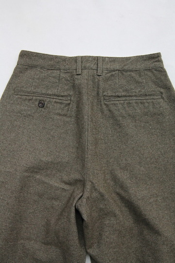 FOB 2 Tuck Wide Pants CW Back Satin OLIVE (5)