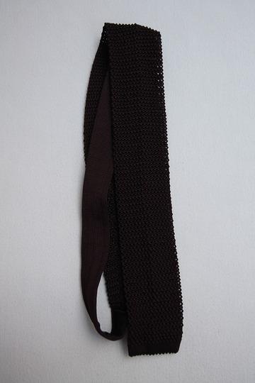 Component Silk Knit Tie BURGUNDY (3)