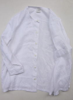 Le Ciel de Harriss Broad Big Shirt with Pocket WHITE (3)