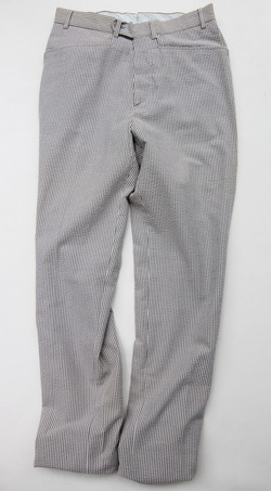 Mabitex Seersucker Tepered Pants BEIGE X GREY (7)