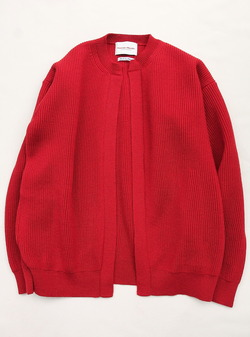 Vincent et Mireille 8 GG Aze Crew Neck Cardigan RED (2)
