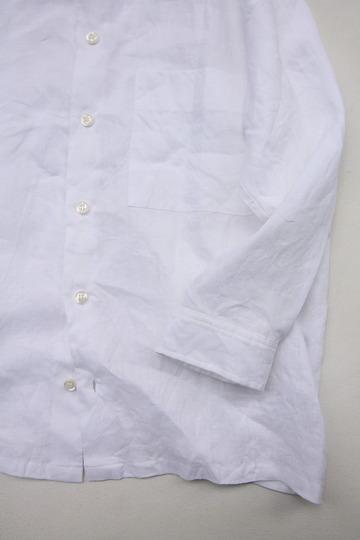 Le Ciel de Harriss Broad Big Shirt with Pocket WHITE (6)