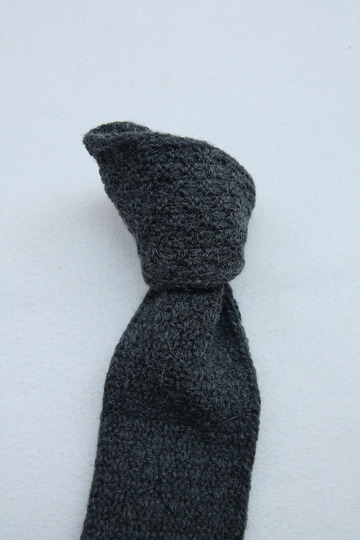 MADE IN FRANCE Wool Knit Tie GREY (3)